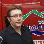 Un pompier de la ville de Saint-Pascal (St-Pascal)