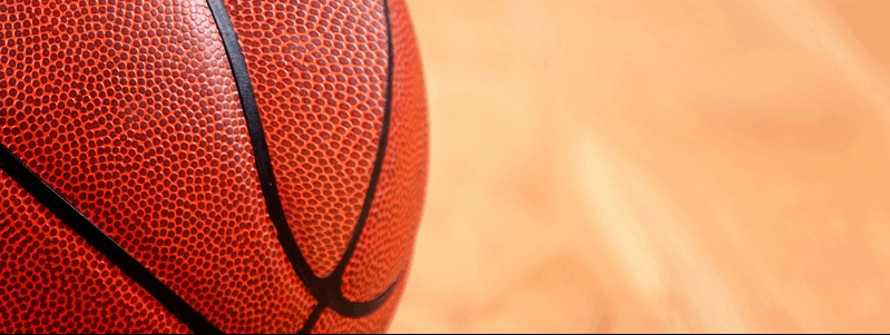 Image rapprochée d'un ballon de basketball