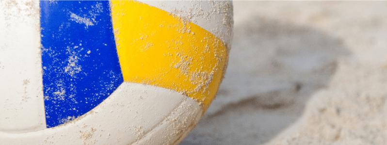 Image rapprochée d'une ballon de volleyball
