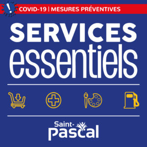 Services Essentiels-Commerçants de la Ville de Saint-Pascal